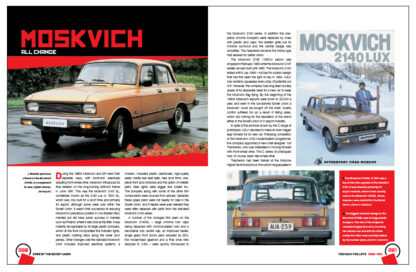 Cars of the Soviet Union pages 280 to 281
